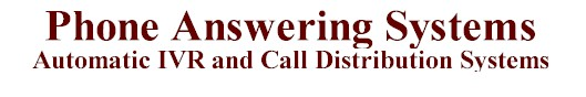 IVR phone answering systems