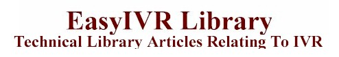 IVR Terms And Definitions
