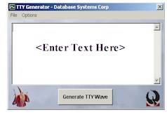 TDD TTY Message Generator